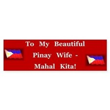 Mahal Kita Wife Bumper Bumper Sticker