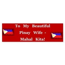 Mahal Kita Wife Bumper Car Sticker