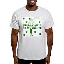 Irish Girls Do it Better Ash Grey T-Shirt