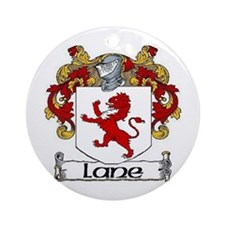 Lane Coat of Arms Ornament (Round)