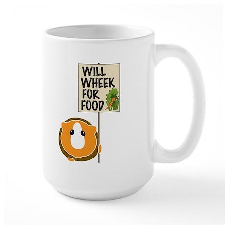 Will Wheek for Food Large Mug