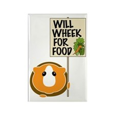 Will Wheek for Food Rectangle Magnet (10 pack)