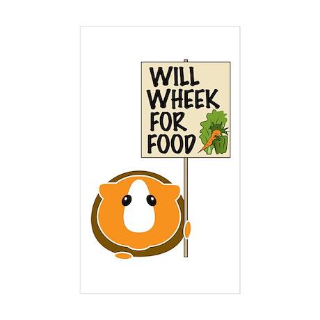 Will Wheek for Food Sticker (Rectangle 10 pk)
