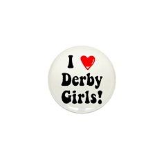 I Heart Derby Girls Mini Button