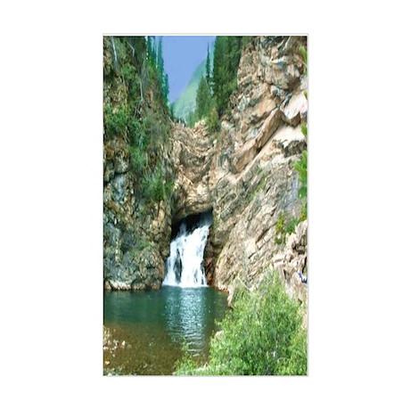 Glacier National Park Waterfall Sticker (Rectangul