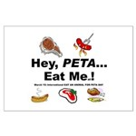 EAT AN ANIMAL FOR PETA DAY Large Poster