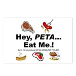 EAT AN ANIMAL FOR PETA DAY Postcards (Package of 8