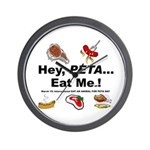 EAT AN ANIMAL FOR PETA DAY Wall Clock