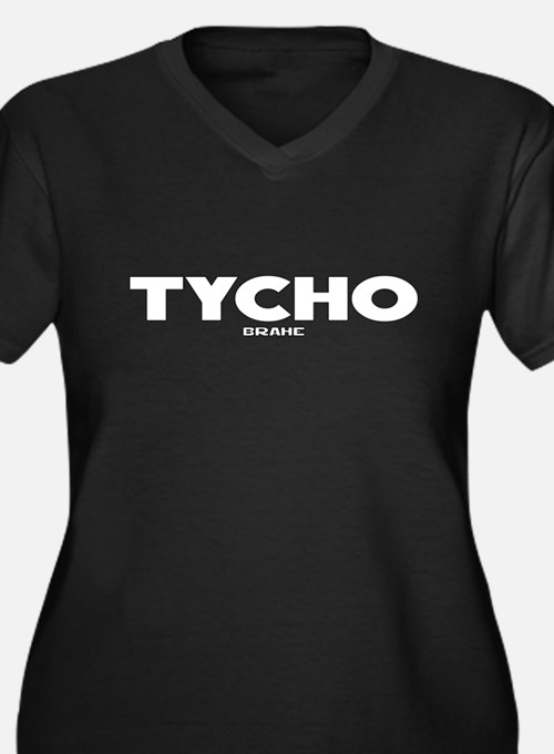 Tycho Women's Plus Size V-Neck Dark T-Shirt