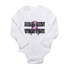 Real Men Wear Pink Long Sleeve Infant Bodysuit