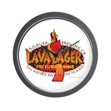 Lava Lager Beer Wall Clock