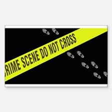Crime Scene Rectangle Decal