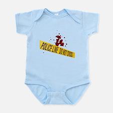 Police line with blood spatte Infant Bodysuit