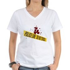 Police line with blood spatte Shirt