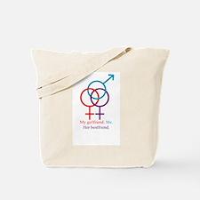 Me. My Girlfriend. Her Bestfr Tote Bag