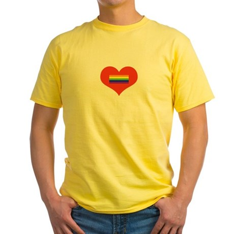 Valentine's Day - LGBT Yellow T-Shirt