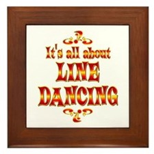 About Line Dancing Framed Tile