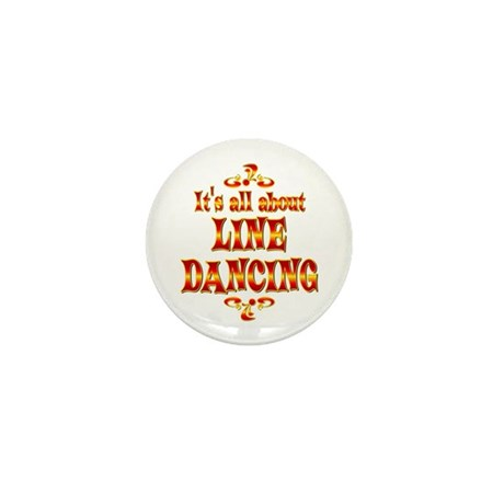 About Line Dancing Mini Button (100 pack)