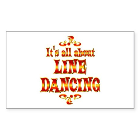 About Line Dancing Sticker (Rectangle)