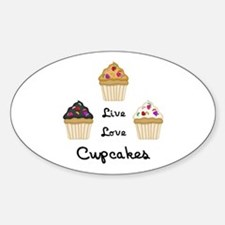 Live Love Cupcakes Decal