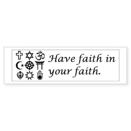 Faith in Faith Sticker (Bumper)