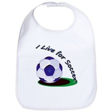 I Live For Soccer! Bib