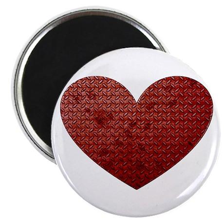 Diamond Plate Heart Magnet