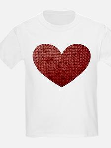 Diamond Plate Heart T-Shirt