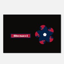 Fibonacci Red White Blue Postcards (Package of 8)