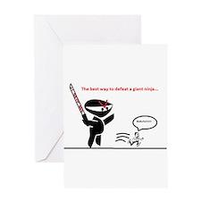 Run-Fu Greeting Card