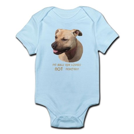 PIT BULLS ARE LOVERS Infant Bodysuit