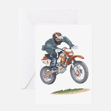 Cute Motorbikes Greeting Card