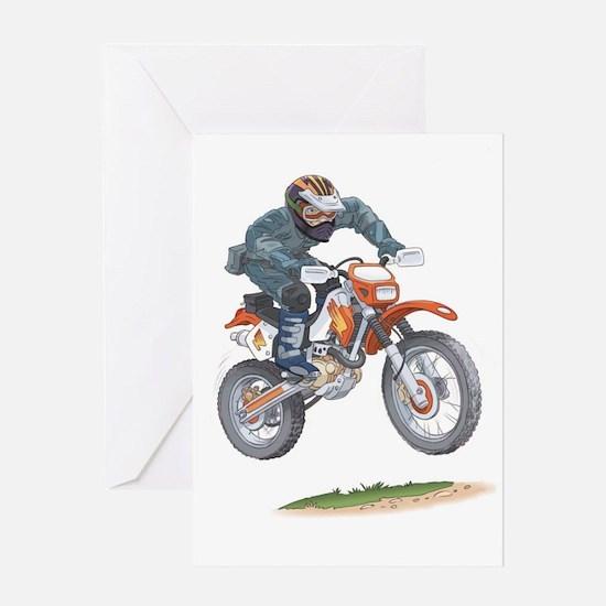 Cute Motorbikes Greeting Card