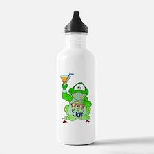 Drink til I Croak Frog Water Bottle