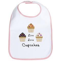 Live Love Cupcakes Bib