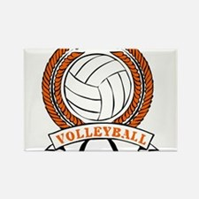 VOLLEYBALL {15} : orange Rectangle Magnet