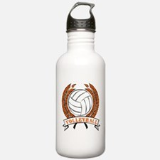 VOLLEYBALL {15} : orange Water Bottle