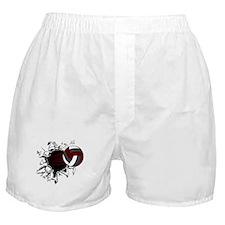VOLLEYBALL {16} : crimson,whi Boxer Shorts