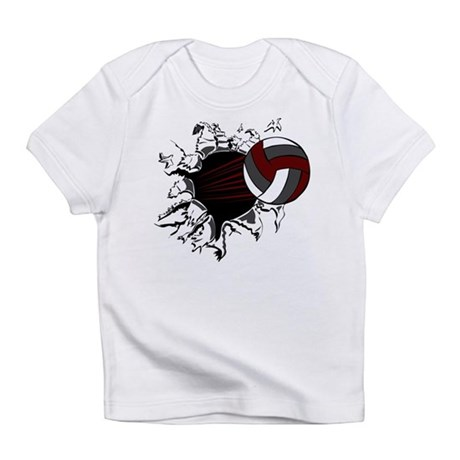 VOLLEYBALL {16} : crimson,whi Infant T-Shirt