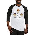 Live Love Cupcakes Baseball Jersey