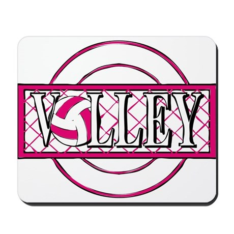 VOLLEYBALL {17} : pink Mousepad
