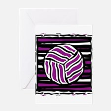 VOLLEYBALL {18} : purple Greeting Card