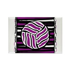 VOLLEYBALL {18} : purple Rectangle Magnet