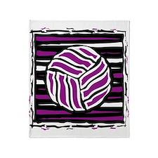 VOLLEYBALL {18} : purple Throw Blanket