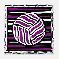 VOLLEYBALL {18} : purple Tile Coaster
