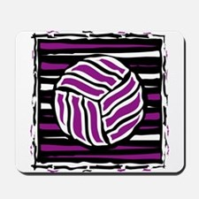 VOLLEYBALL {18} : purple Mousepad