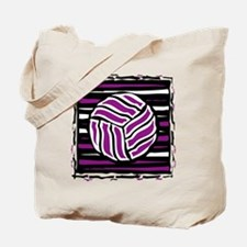 VOLLEYBALL {18} : purple Tote Bag