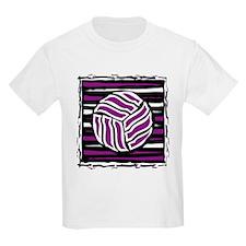 VOLLEYBALL {18} : purple T-Shirt