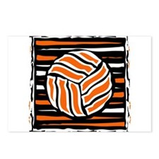 VOLLEYBALL {18} : orange Postcards (Package of 8)