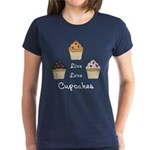 Live Love Cupcakes Women's Dark T-Shirt